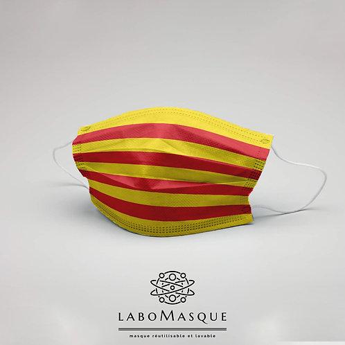 Masque barrière Drapeau Catalogne - Masque en tissu alternati
