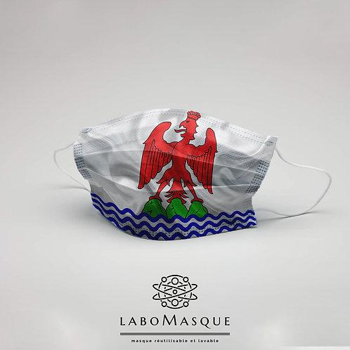 Masque barrière Drapeau Nice - Masque en tissu alternat