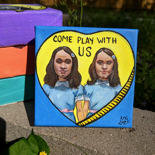 """Horror Conversation Heart """"Come play with us"""""""