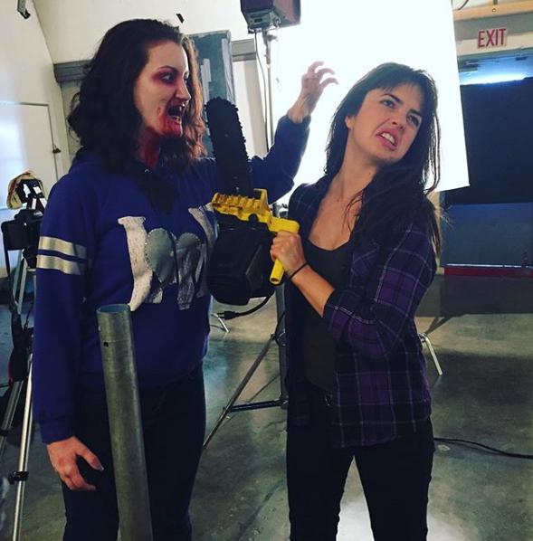 "on set shooting ""Zombie FX"""
