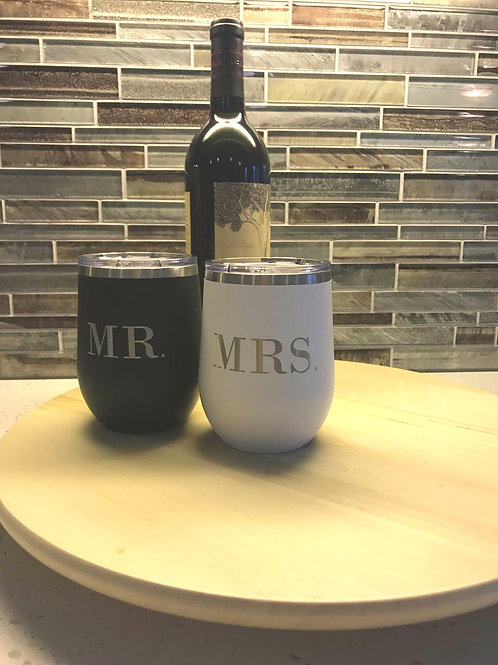 Mr. & Mrs. Wine Tumbler Set
