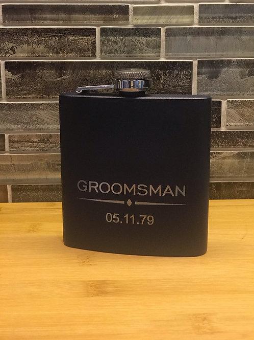 """""""Groomsman"""" Flask"""