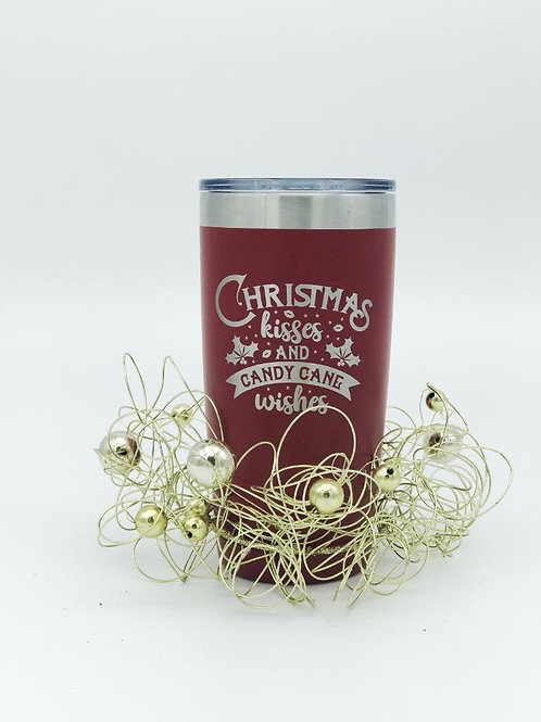 Christmas Kisses & Candy Cane Wishes Tumbler