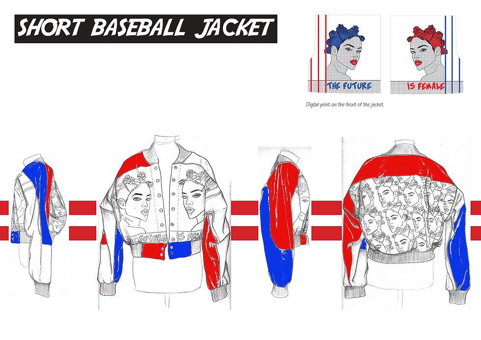 Leather baseball jacket