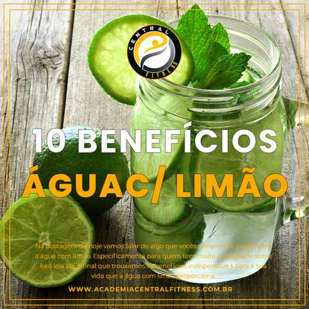 10 BENEFÍCIOS DA ÁGUA COM LIMÃO