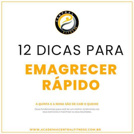 12 MANEIRAS DE EMAGRECER RÁPIDO E FÁCIL