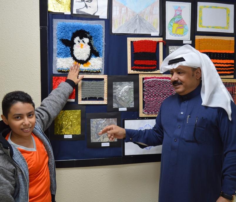 تكريم الطلاب المتميزين في أعمال التربية الفنية