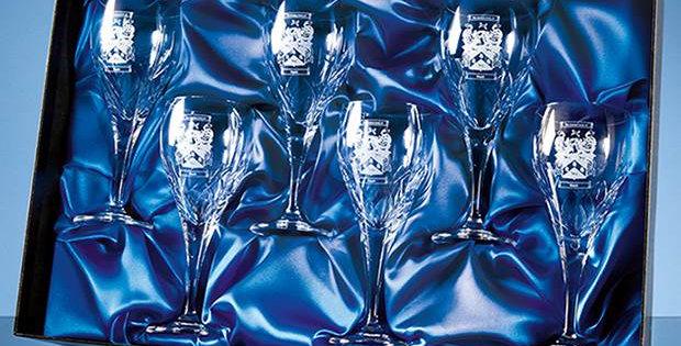 CG PB103 Universal 6 Wine Glass Satin Lined Presentation Box