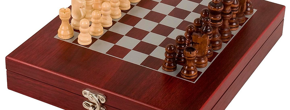 GL GS006 Rosewood Finish Chess Set