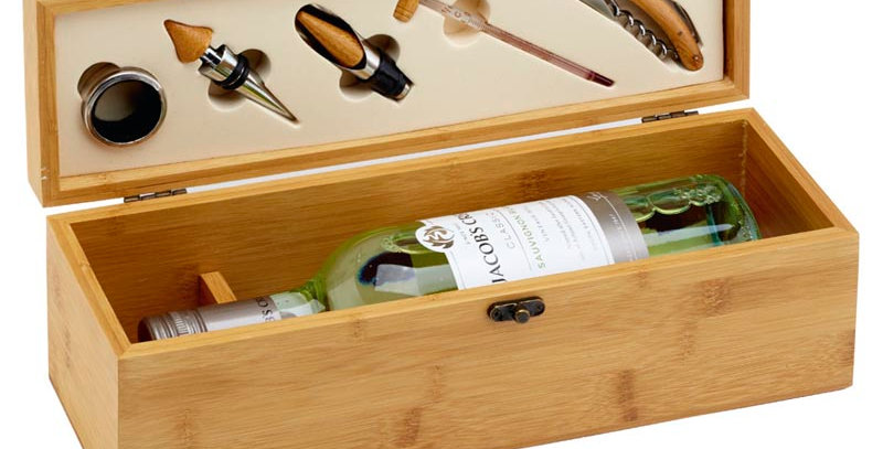 GL GS011 Bamboo Single Wine Set