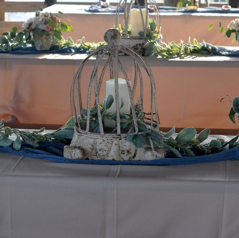 Unique Centerpieces, all designs are styled to the couples thoughts