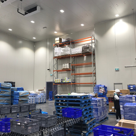 Food processing factory installation