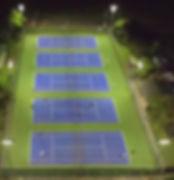 LED floodlighting for tennis