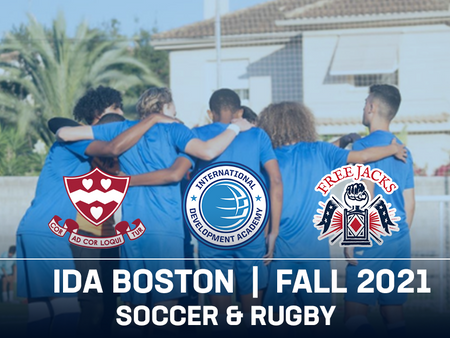 IDA Boston launches with both soccer and rugby in 2021