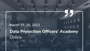 Tryliktoji Duomenų apsaugos pareigūnų akademija kovo 25-26 d.   Online