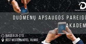 Dešimtoji Duomenų apsaugos pareigūnų akademija - rugsėjo 26-27 d.