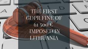 Lietuvoje paskirta pirmoji GDPR bauda, siekianti 61500 €