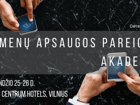 Devintoji Duomenų apsaugos pareigūnų akademija - balandžio 25-26 d.