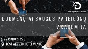 Aštuntoji Duomenų apsaugos pareigūnų akademija - vasario 21-22 d.
