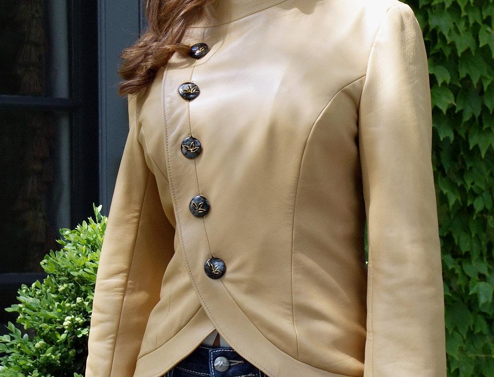 Akhal Asymmetrical Leather Jacket