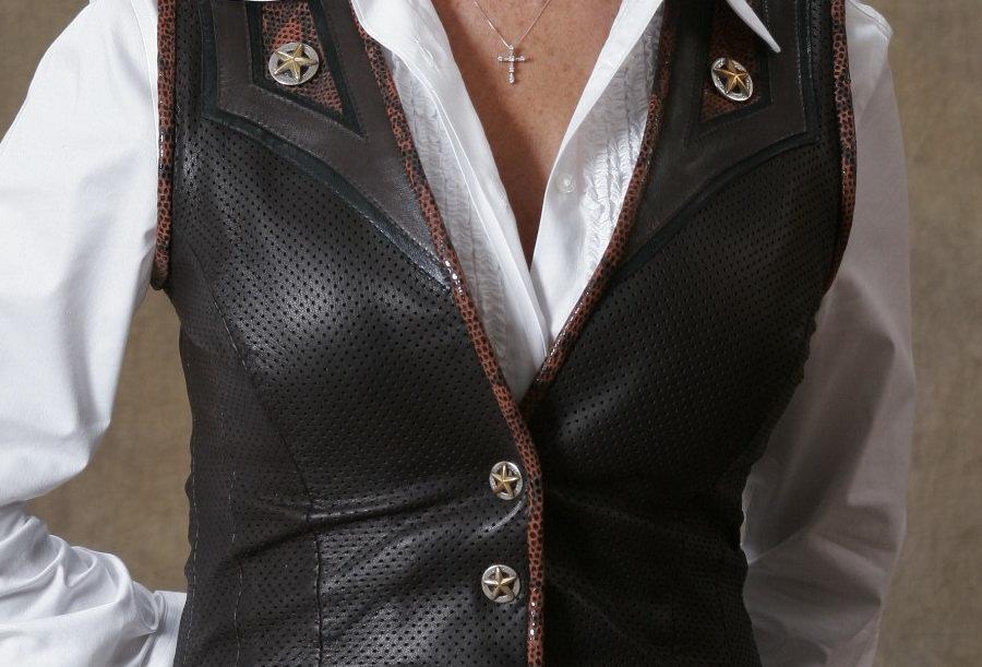 Women's Single Breasted Vest Espresso