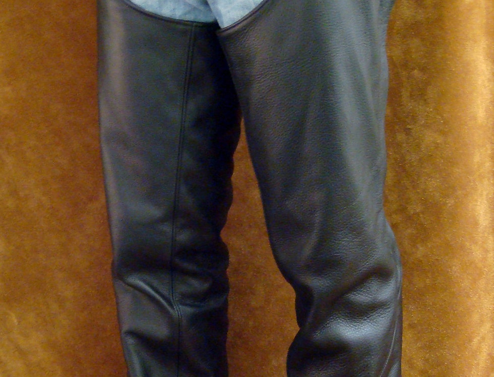 Men's Motorcycle Chaps Black