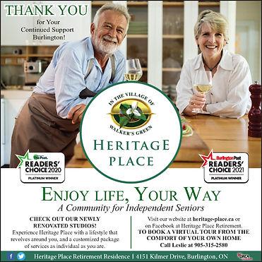 Burlington Post Reader's Choice Platinum Award Ad