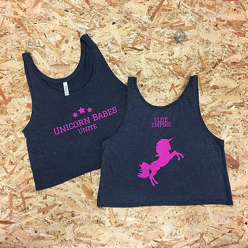 Unicorn Babes Unite Crop Top
