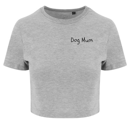 Dog Mum Crop Tee