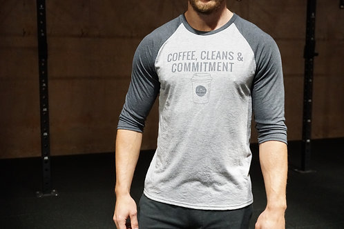 Coffee, Cleans and Commitment Baseball Top