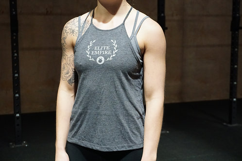 Flowy High Neck Tank - Grey