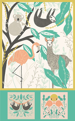 "Zoology 36""x 58"" Panel"