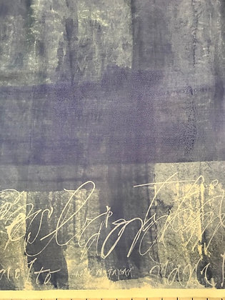 Nani Iro Sateen Blue Script