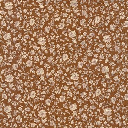 Flower Garden Mustard Cotton/Linen Sheeting