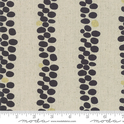 Chill Mochi Linen Charcoal Stripe