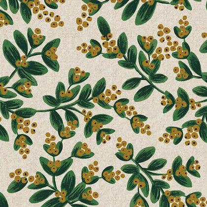 Holiday Classics Mistletoe White Unbleached Canvas Metallic