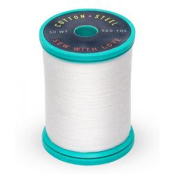 Cotton and Steel Thread 1002 Soft White