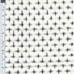 White/Navy Ikat Star