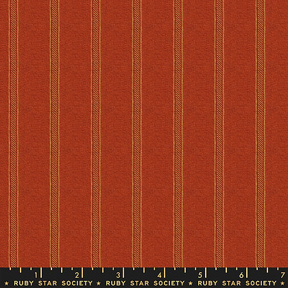 Warp and Weft Wovens Cayenne Stripe