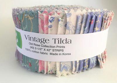Tilda Old Rose Fabric Strips