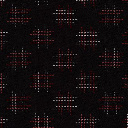 Sevenberry Kasuri/Black and Red
