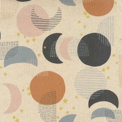 Kokya Stars Cotton/Linen Canvas Cream
