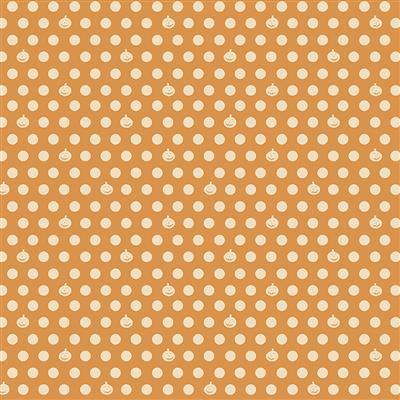 Retro Halloween Pumpkin Dot Gold