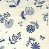 Kokka Nylon Oxford White and Blue Flower