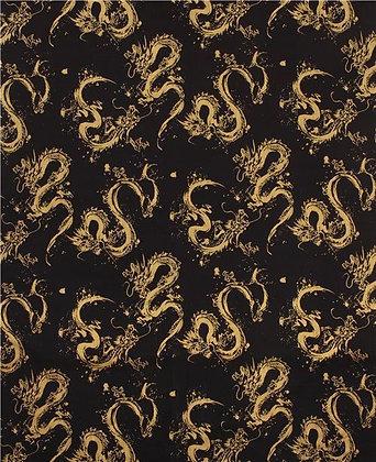 Metallic Gold and Black Dobbi Dragon