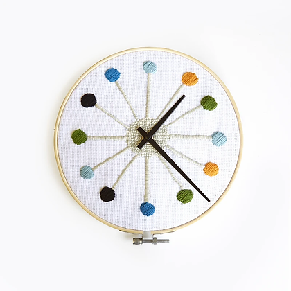 DIY Cross Stitch Clock