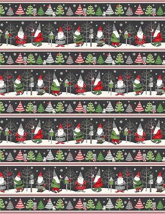 Winter Gnomes Stripe Boarder
