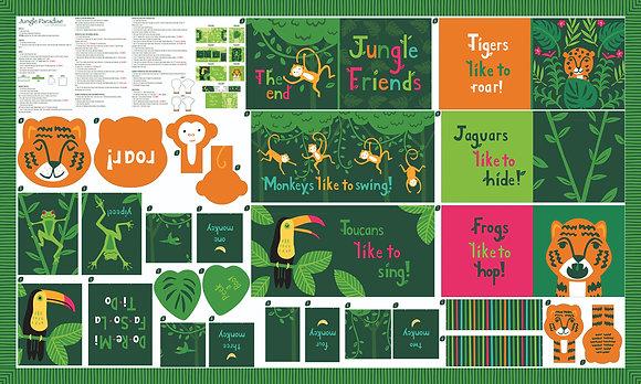 Jungle Paradise Book Panel