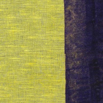 Nani Iro Linen/Cotton Gauze Purple and Yellow