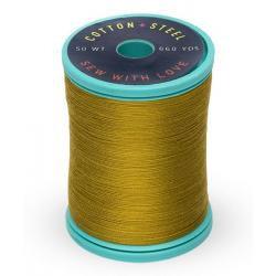 Cotton and Steel Thread 1245  Dark Gold Green